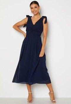 Moments New York Theodora Dotted Dress Dark blue bubbleroom.dk