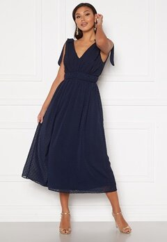 Moments New York Theodora Dotted Dress Dark blue Bubbleroom.dk