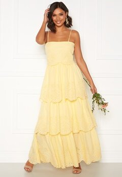 Moments New York Vera frill gown Light yellow Bubbleroom.dk