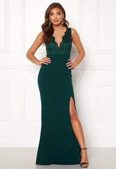 Moments New York Veronica Lace Gown Dark green bubbleroom.dk
