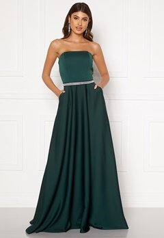 Moments New York Victoria Satin Gown Emerald green Bubbleroom.dk