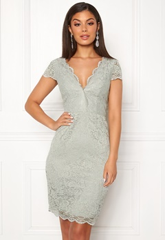 Moments New York Viola Lace Dress Dusty green Bubbleroom.dk