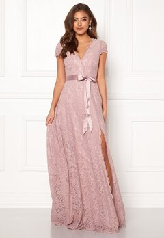 Moments New York Viola Lace Gown Dusty lilac Bubbleroom.dk
