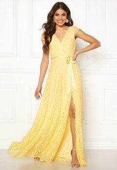 Moments New York Viola Lace Gown Yellow Bubbleroom.dk