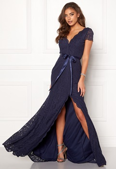 Moments New York Viola Lace Gown Dark blue Bubbleroom.dk