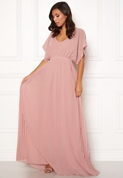 Moments New York Violet Chiffon Gown Dusty pink Bubbleroom.dk