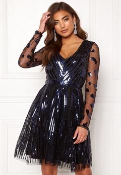 Moments New York Dana Beaded Dress  Black Bubbleroom.dk