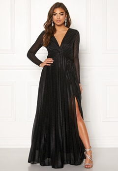 Moments New York Sienna Lurex Gown Black Bubbleroom.dk
