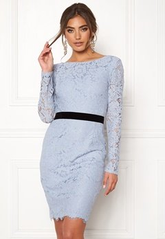 Moments New York Romy Lace Dress Grey-blue Bubbleroom.dk