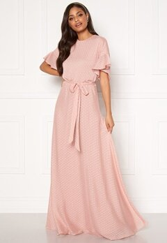 Moments New York Maja Dotted Gown Pink Bubbleroom.dk