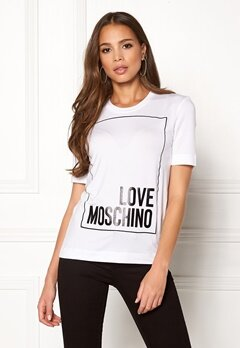 Love Moschino Moschino T-shirt Optical White Bubbleroom.dk