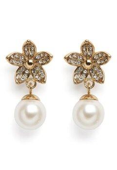 Dyrberg/Kern Nanda Earrings White Bubbleroom.dk