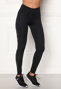 NEBBIA One Tone Pattern Tights Black Bubbleroom.dk