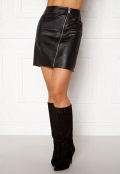 Rut & Circle Nellie PU Skirt Black Bubbleroom.dk