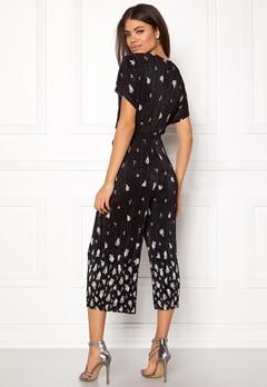 New Look Border Print Jumpsuit Black Pattern Bubbleroom.dk