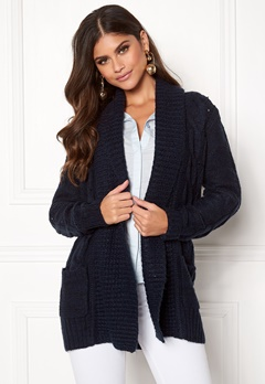 New Look Cable Cardigan Navy Bubbleroom.dk