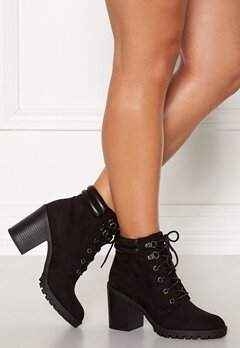 New Look Case Chunky Lace Up Boot Black Bubbleroom.dk