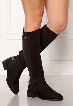 New Look Chain Riding Boots Black Bubbleroom.dk