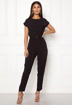 New Look D-Ring Tee Jumpsuit Black Bubbleroom.dk