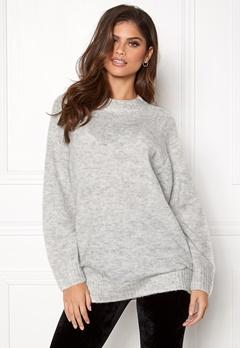 New Look Deep Raglan Knit Tunic Pale Grey Bubbleroom.dk