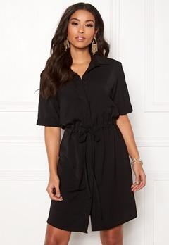 New Look Drawstring Shirt Dress Black Bubbleroom.dk
