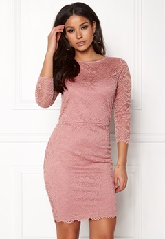 New Look Go Floral Lace Bodycon Shell Pink Bubbleroom.dk