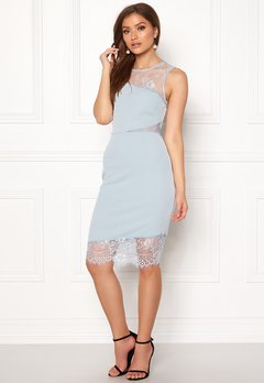 New Look Go Jen Lace Bodycon Dress Pale Blue Bubbleroom.dk