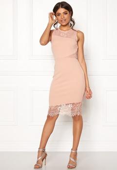 New Look Go Jen Lace Bodycon Dress Shell Pink Bubbleroom.dk