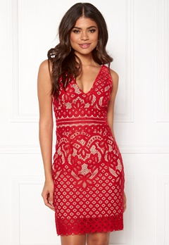 New Look Go Lace Contrast Bcon Red Bubbleroom.dk