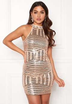 New Look Go Sequin Bodycon Dress Metal Bubbleroom.dk