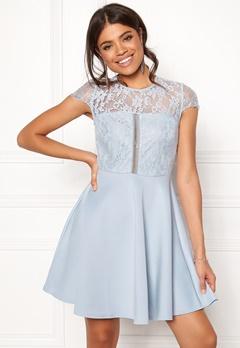 New Look Lace 2 in1 Detail Dress Blue Bubbleroom.dk