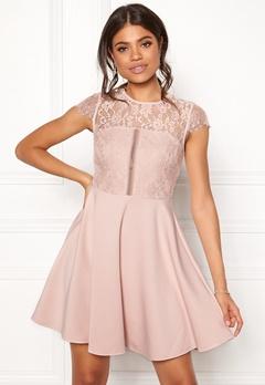 New Look Lace 2 in1 Detail Dress Shell Pink Bubbleroom.dk