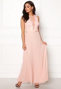 New Look Lace Chiffon Maxi Dress Pink Bubbleroom.dk