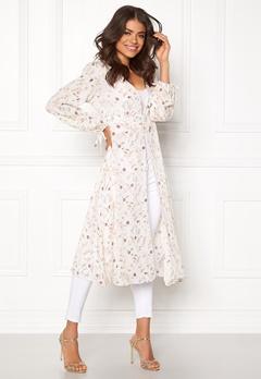 New Look Lurex Lace Up Kaftan White Pattern Bubbleroom.dk