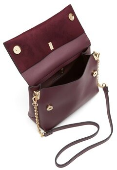 New Look Matilda Metal Handle Bag Dark Burgundy Bubbleroom.dk