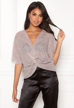 New Look Moon Shimmer Twist Top Pink Bubbleroom.dk