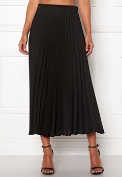 New Look Plain Pleated Midi Skirt Black Bubbleroom.dk