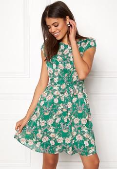 New Look Print Chiffon Dress Green Pattern Bubbleroom.dk