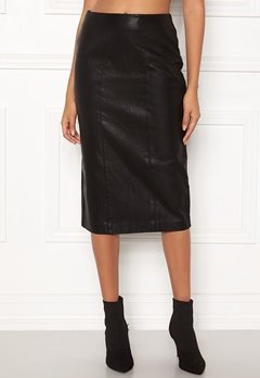 New Look PU Pencil Skirt Black Bubbleroom.dk