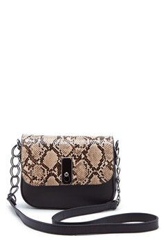 New Look Samira Snake Saddle Bag Black Pattern Bubbleroom.dk