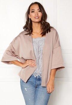 New Look Satin Kimono Jacket Shell Pink Bubbleroom.dk