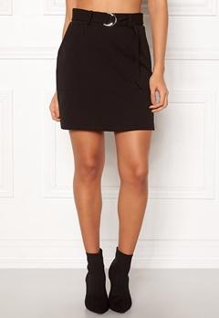 New Look Scuba Crepe Skirt Black Bubbleroom.dk