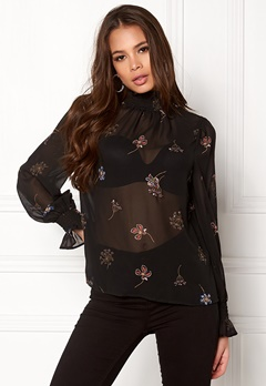 New Look Sequin Shell Blouse Black Pattern Bubbleroom.dk
