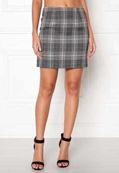 New Look Sparkle Check Mini Skirt Light Grey Bubbleroom.dk
