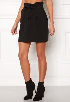 New Look Tie Waist Mini Skirt Black Bubbleroom.dk