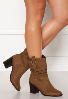 New Look Western Mid Calf Boots Tan Bubbleroom.dk