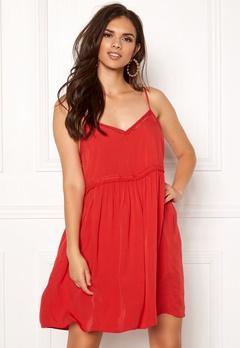 New Look Wow Tild Plain Dress Red Bubbleroom.dk