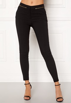 New Look Zip Bengaline Leggings Black Bubbleroom.dk