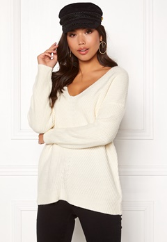 New Look Lattice Back Jumper Off White Bubbleroom.dk