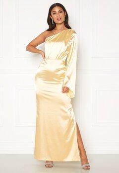 Nicole Falciani X Bubbleroom Nicole Falciani Satin Gown Gold-coloured Bubbleroom.dk